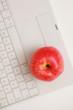 Apfel auf Tastatur