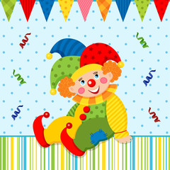clown joker vector