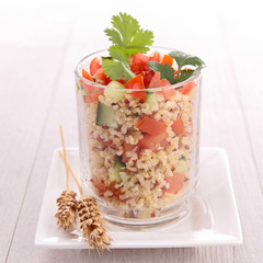 quinoa salad with cucumber and tomato