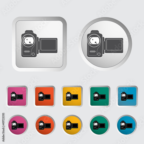 Video camera single icon.