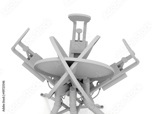 Abstract white satellite antenna