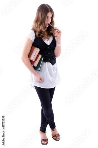 Elegant student girl