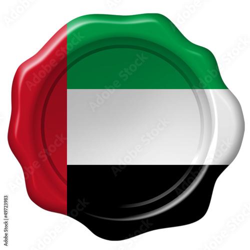 Wachssiegel Vereinigte Arabische Emirate