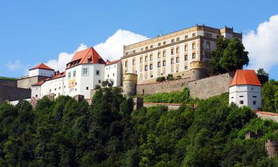 Castle of Passau over The Danube River in Bavaria, Germany.