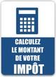 bouton calculez le montant de votre impôt