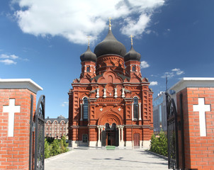 Orthodox cathedral in Russia