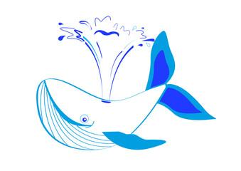 Baleine et son jet d'eau
