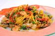 italienische Pasta mit Meeresfrüchten - Tagliolini