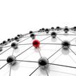 Netzwerk und Internet - 3D Illustration / 3D Visualisierung
