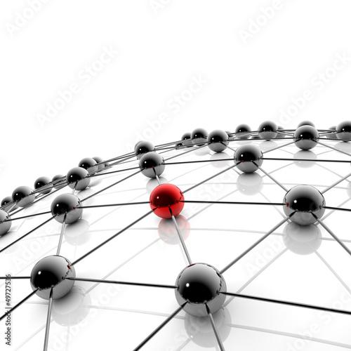 Netzwerk und Internet - 3D Illustration / 3D Visualisierung © ag visuell