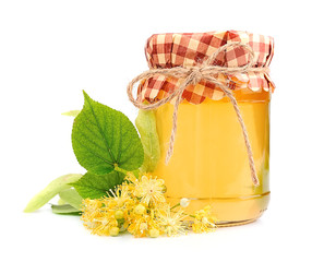 Honey with linden flowers