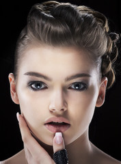 Magnetism. Sensual Charismatic Young Woman looking. Daze