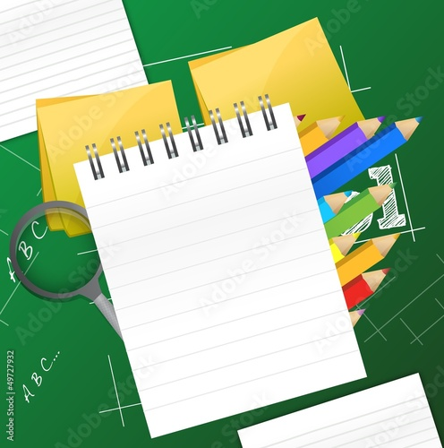 Office and student accessories graphic