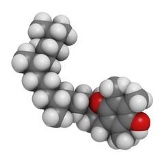 Vitamin E (alpha-tocopherol) molecule
