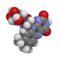 Vitamin B2 (riboflavin) molecule