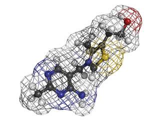 Vitamin B1 (thiamine) molecule