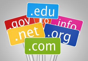 Domain names concept