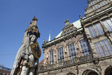 Bremen - Roland und Rathaus
