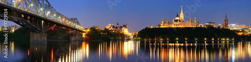 Foto op Canvas Canada Ottawa at night