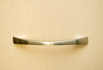 handle on wooden door
