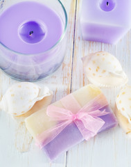 soap and candle