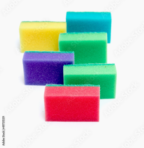sponge for washing dishes colored