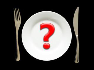 interrogation dans l'assiette