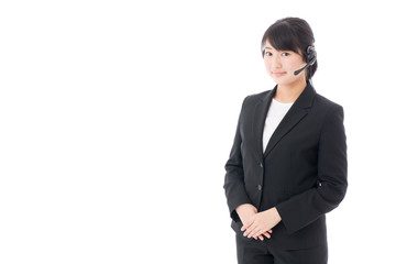 a young businesswoman with headset