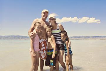Family having Summer Fun at the Lake