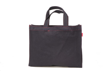 Black cloth bag.