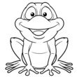 illustration of Cartoon frog - Coloring book