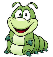 illustration of Cartoon worm