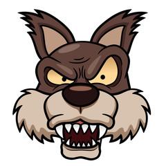 illustration of cartoon wolf face