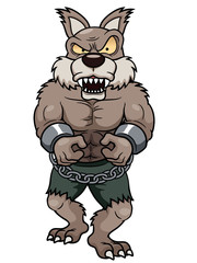 illustration of cartoon Werewolf