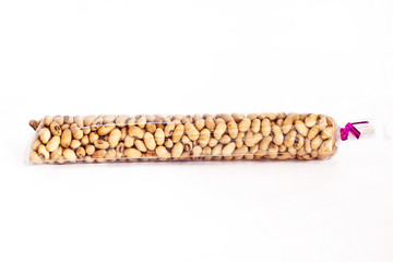Roast Soybeans on the whit blackground