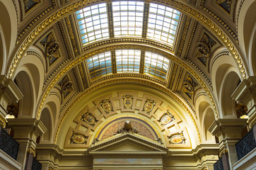 The interior view of Wisconsin State Capitol in Madison