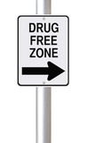 Drug Free Zone This Way poster