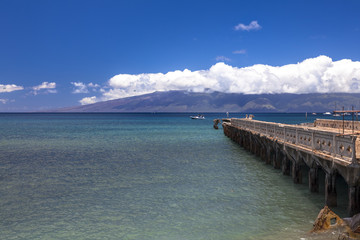 View of lanai and old concrete pier