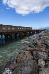 Old dilapidated pier in Hawaii