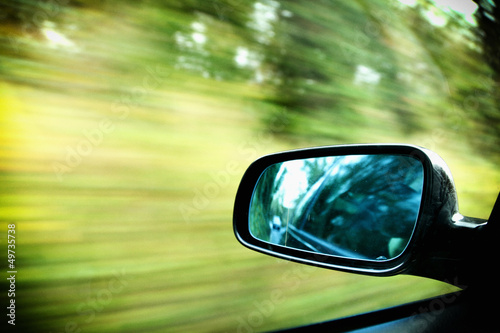 car on the road wiht motion blur background