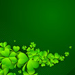 Irish four leaf lucky clovers background for Happy St. Patrick's
