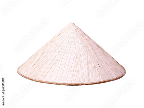 Asian hat on a white background,