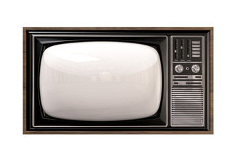 Vintage TV Isolated Front