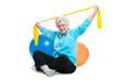 Seniorin im Fitnesscenter
