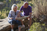 seniors hiking for wellbeing and health