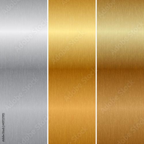 Fototapeta Vector metal textures