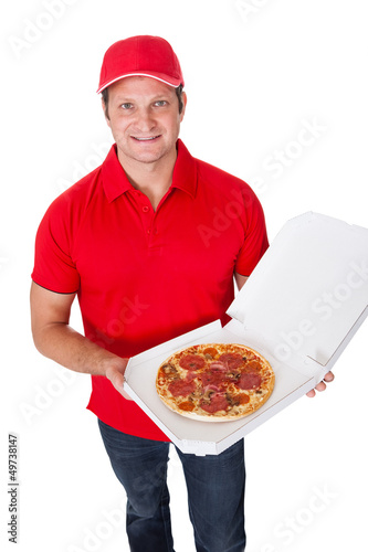 Portrait of pizza delivery guy