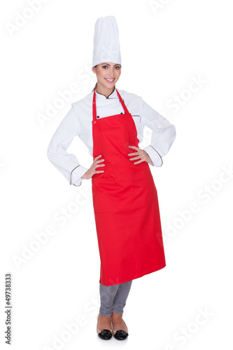 Happy Female Chef
