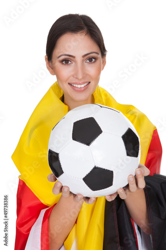 Happy Female German Supporter