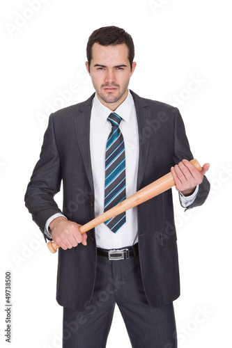 Gangster with baseball bat